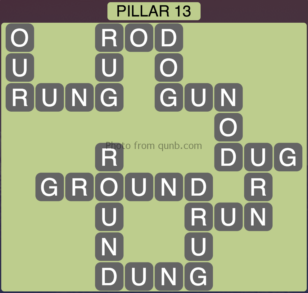 Wordscapes Level 157 (Pillar 13) Answer