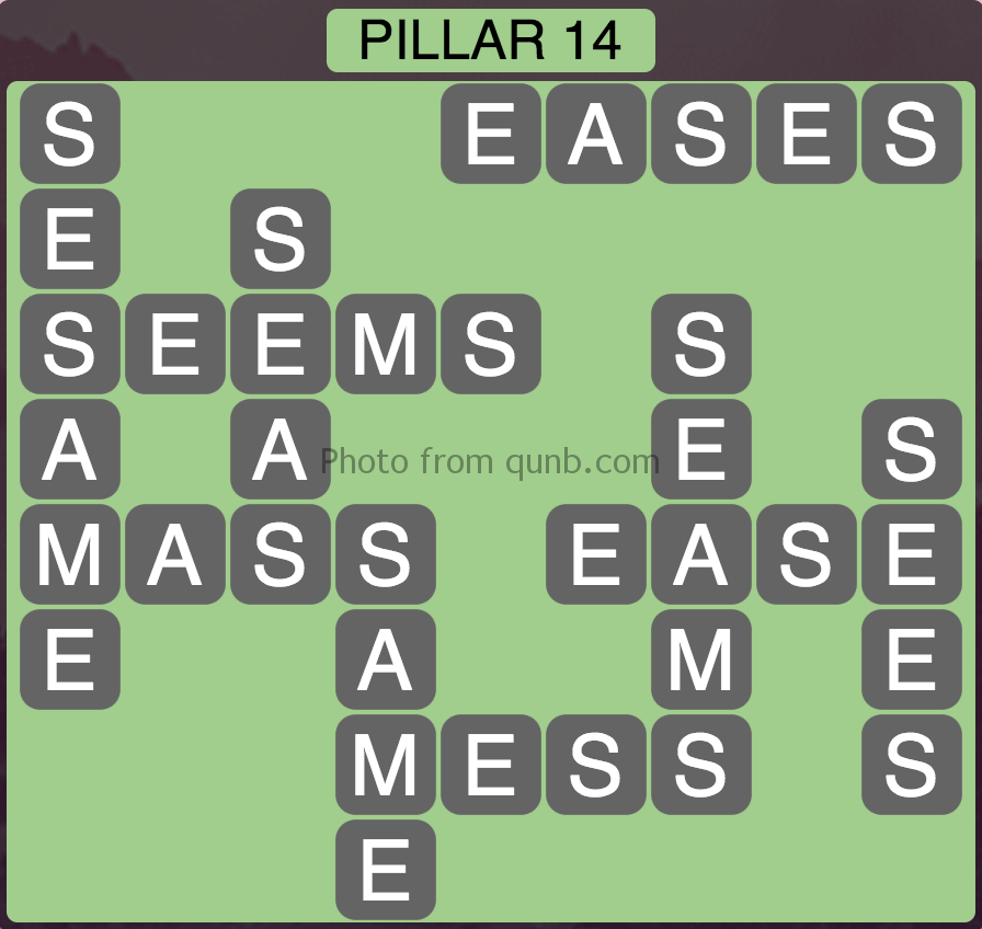 Wordscapes Level 158 (Pillar 14) Answer