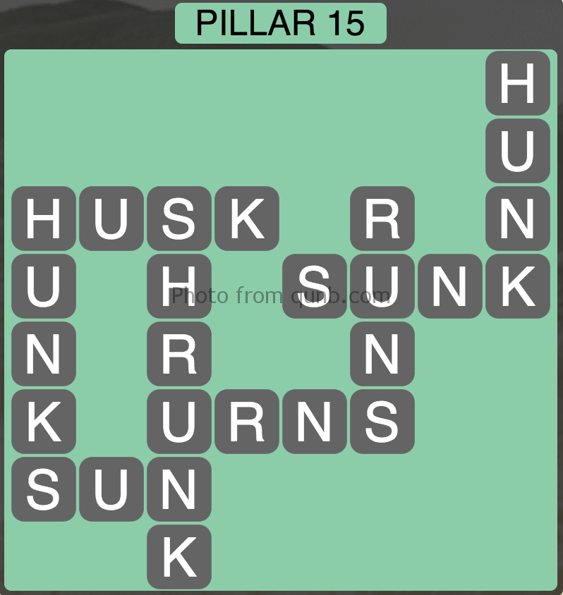 Wordscapes Level 159 (Pillar 15) Answer