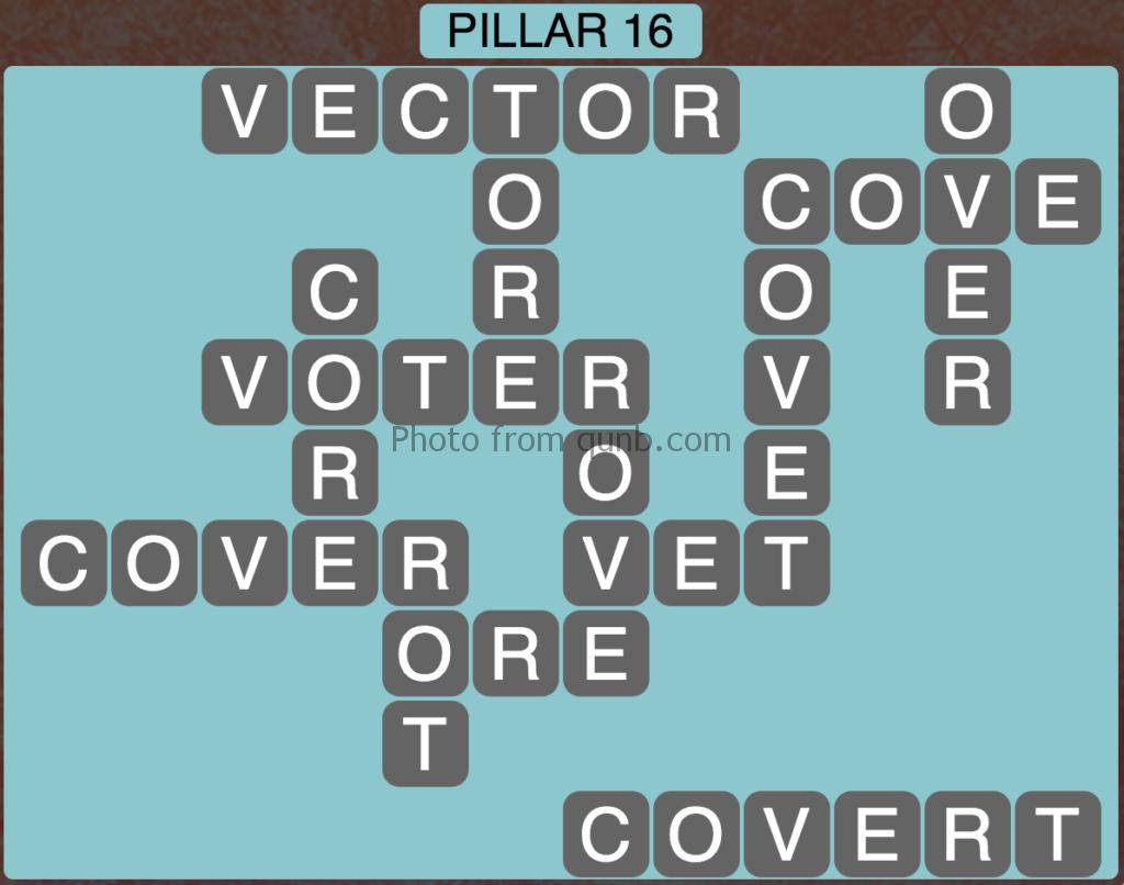 Wordscapes Level 160 (Pillar 16) Answer