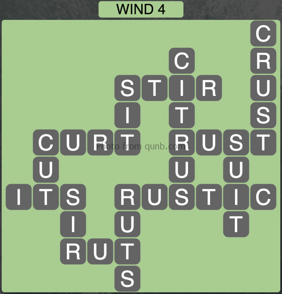 Wordscapes Level 164 (Wind 4) Answer