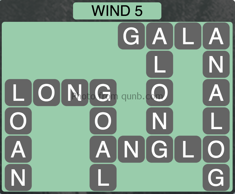 Wordscapes Level 165 (Wind 5) Answer