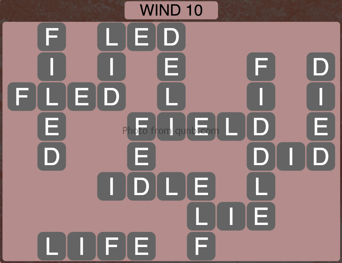 Wordscapes Level 170 (Wind 10) Answer