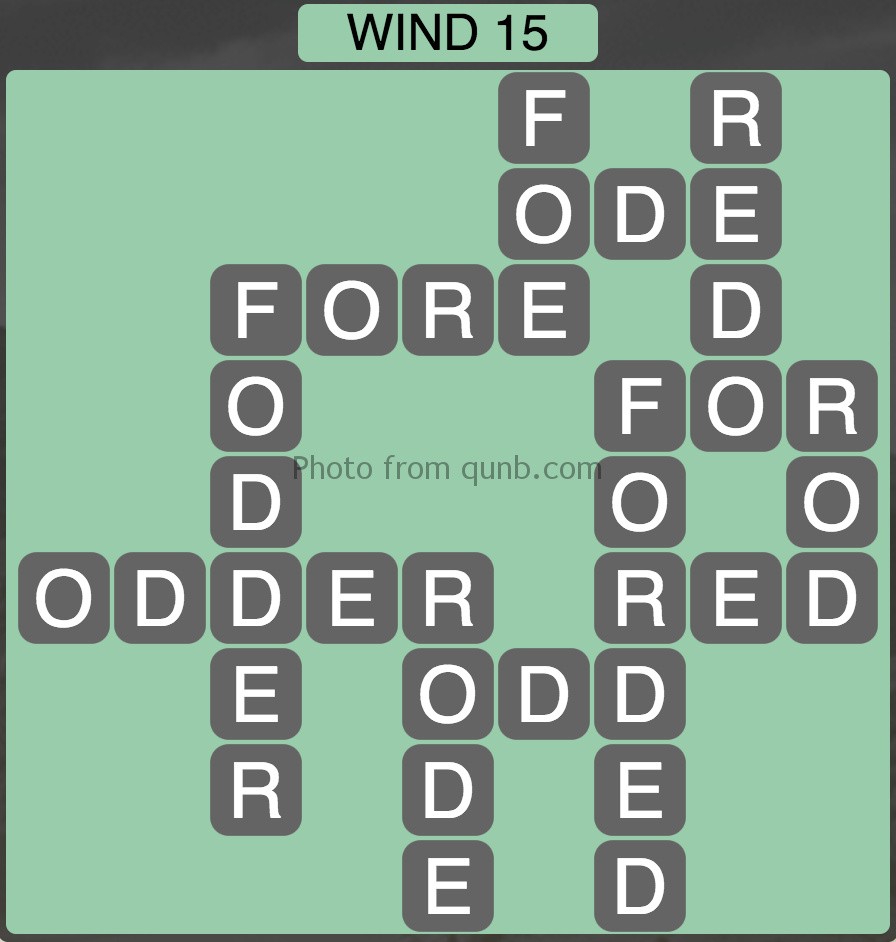 Wordscapes Level 175 (Wind 15) Answer