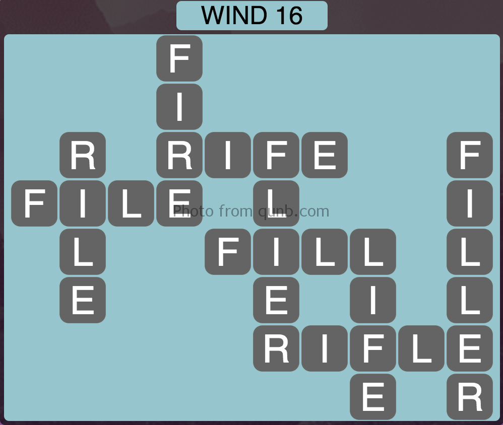 Wordscapes Level 176 (Wind 16) Answer