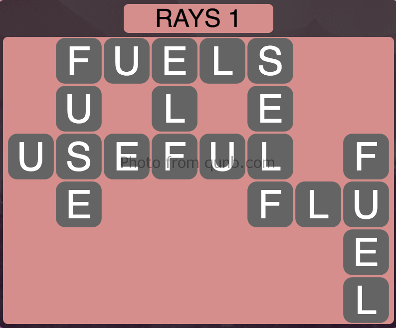Wordscapes Level 177 (Rays 1) Answer