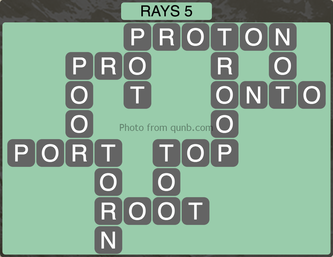 Wordscapes Level 181 (Rays 5) Answer