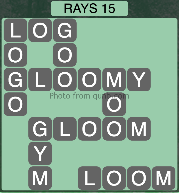 Wordscapes Level 191 (Rays 15) Answer
