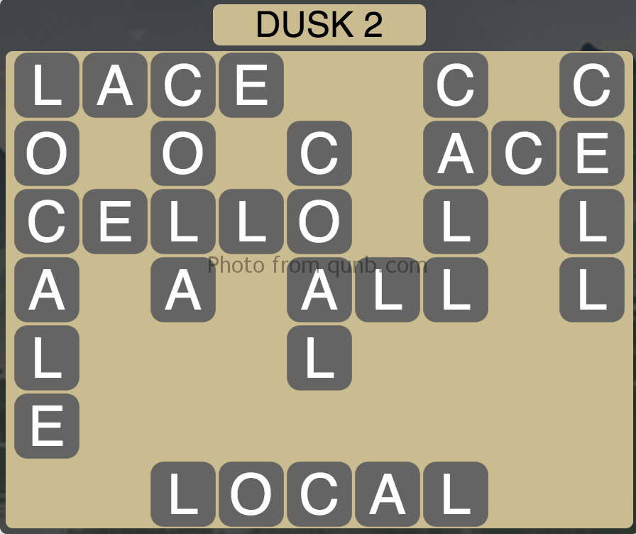 Wordscapes Level 194 (Dusk 2) Answer