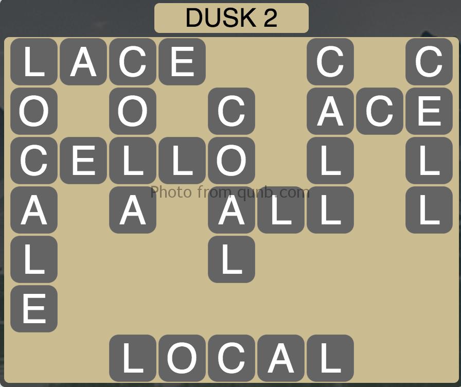 Wordscapes Level 194 Dusk 2 Answer Qunb