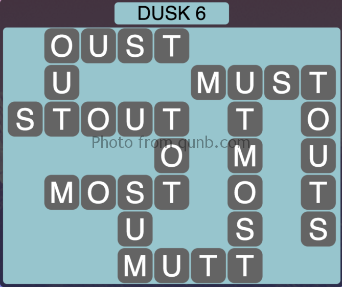 Wordscapes Level 198 (Dusk 6) Answer