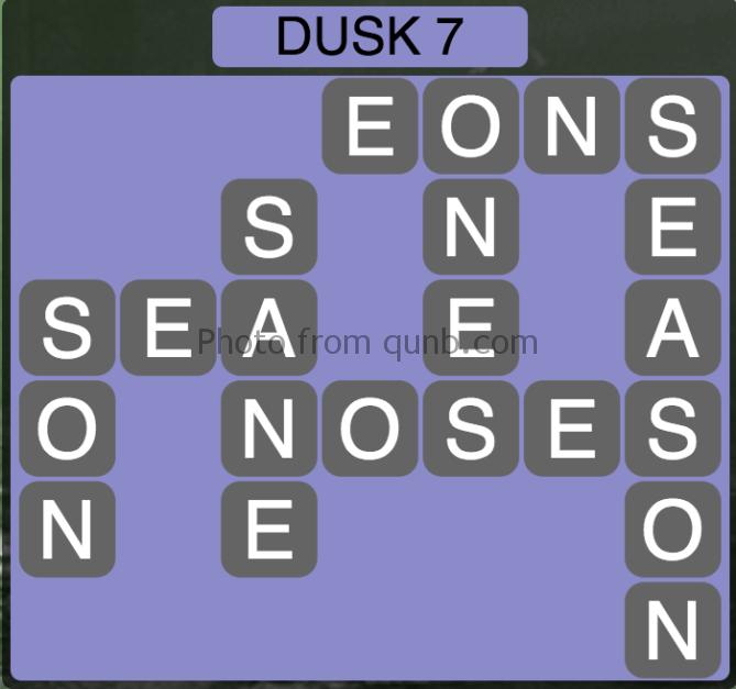 Wordscapes Level 199 (Dusk 7) Answer