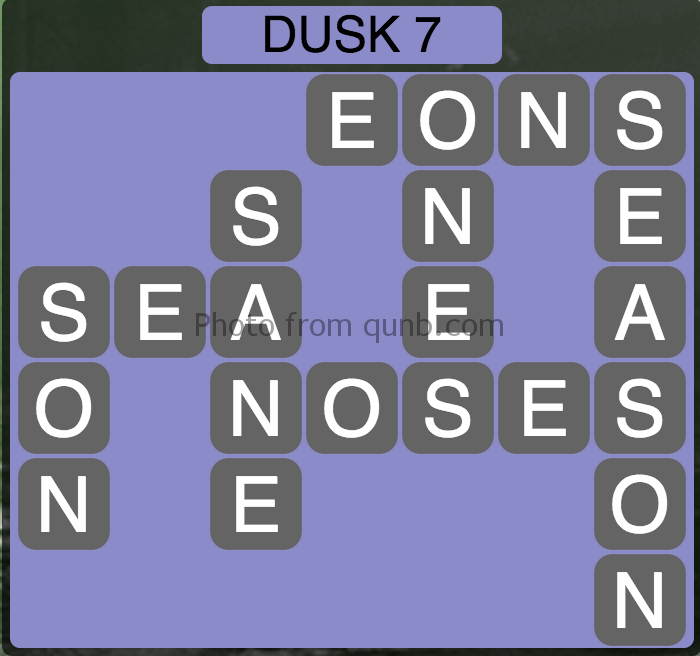 Wordscapes Level 199 (Dusk 7) Answer
