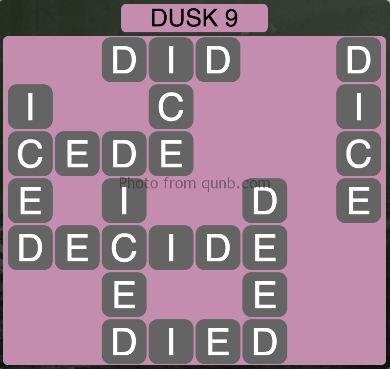 Wordscapes Level 201 (Dusk 9) Answer
