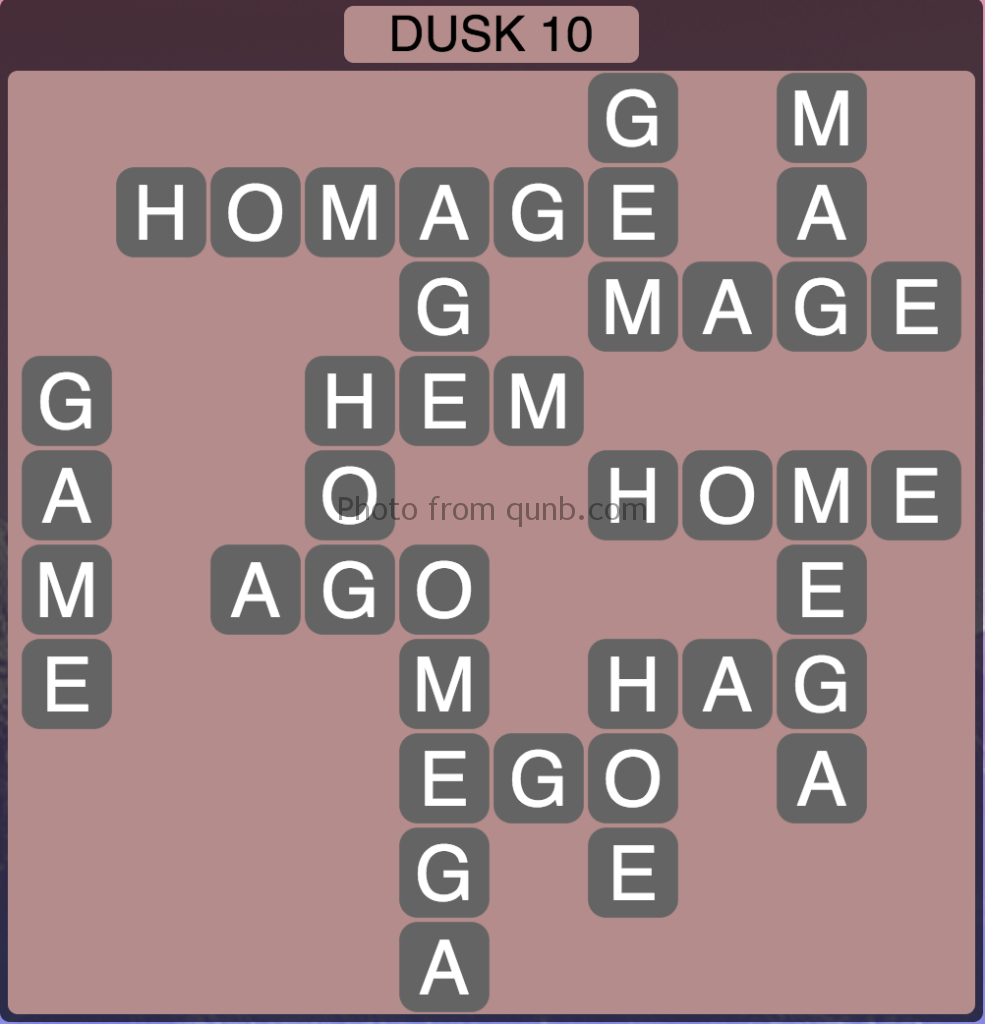 Wordscapes Level 202 (Dusk 10) Answer