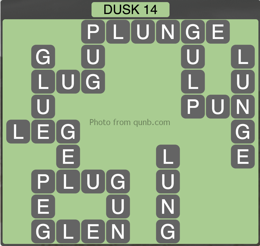 Wordscapes Level 206 (Dusk 14) Answer