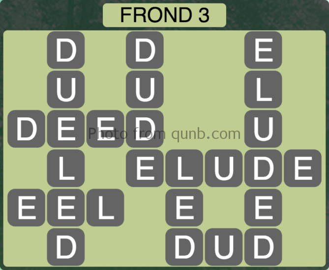 Wordscapes Frond 3 (Level 259) Answers