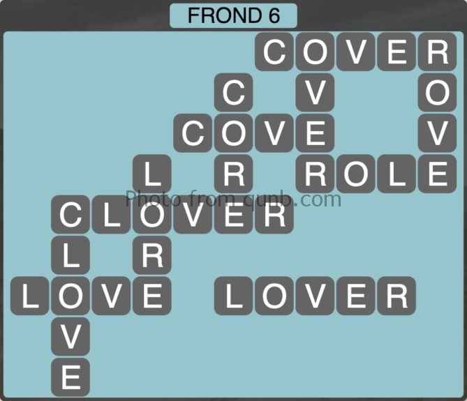 Wordscapes Frond 6 (Level 262) Answers