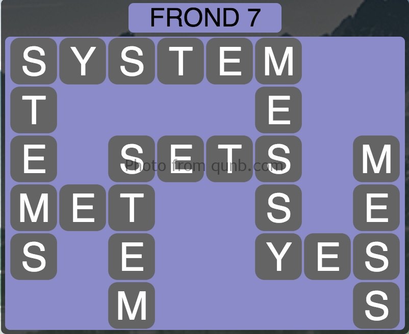 Wordscapes Frond 7 (Level 263) Answers