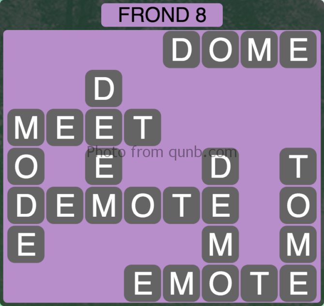 Wordscapes Frond 8 (Level 264) Answers