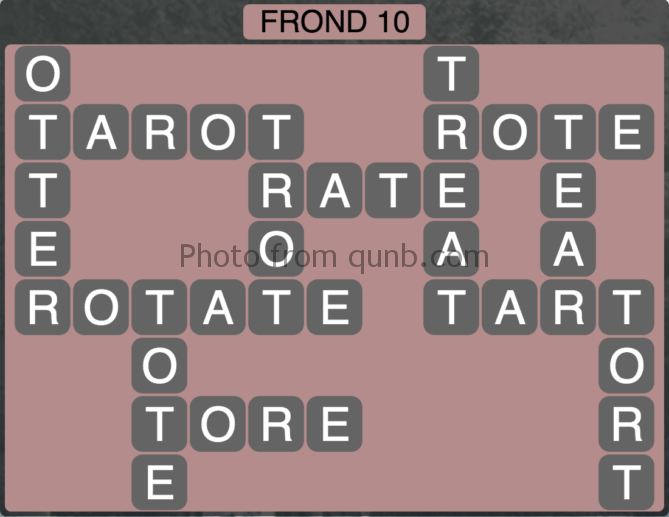 Wordscapes Frond 10 (Level 266) Answers