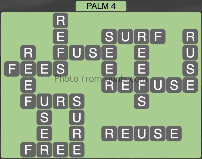 Wordscapes Palm 4 (Level 276) Answers