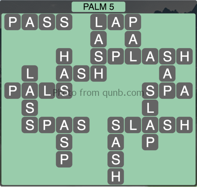 Wordscapes Palm 5 (Level 277) Answers