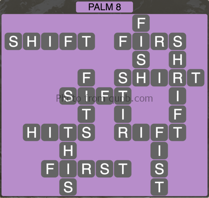 Wordscapes Palm 8 (Level 280) Answers