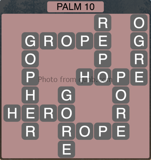 Wordscapes Palm 10 (Level 282) Answers