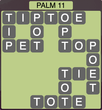 Wordscapes Palm 11 (Level 283) Answers