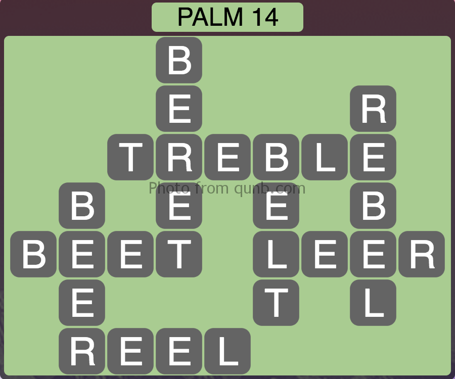 Wordscapes Palm 14 (Level 286) Answers