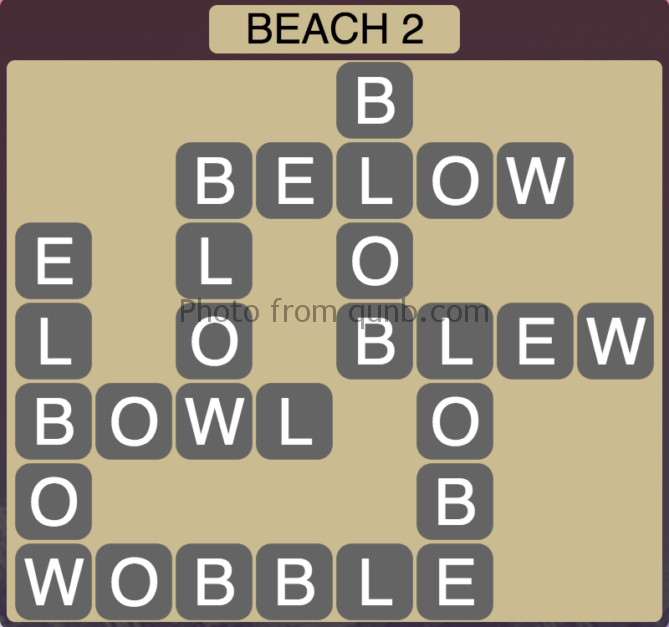 Wordscapes Beach 2 (Level 290) Answers