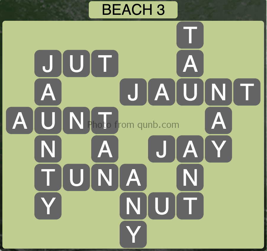 Wordscapes Beach 3 (Level 291) Answers