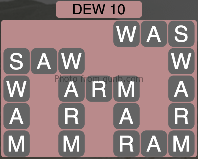 Wordscapes Level 30 (Dew 10) Answer
