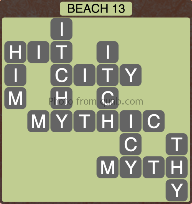 Wordscapes Beach 13 (Level 301) Answers