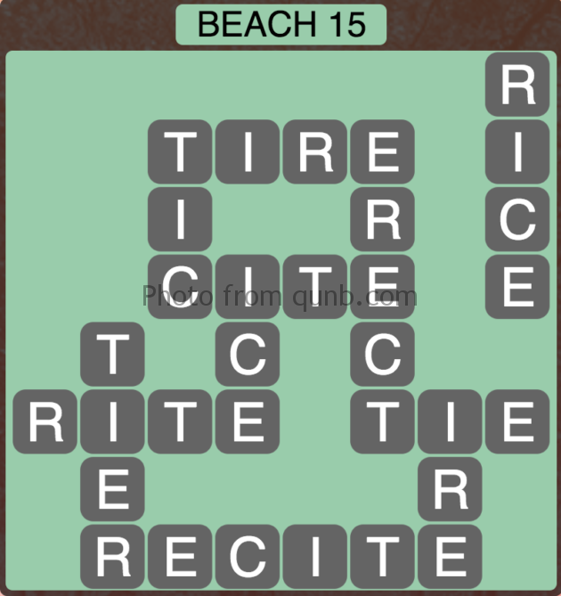 Wordscapes Beach 15 (Level 303) Answers