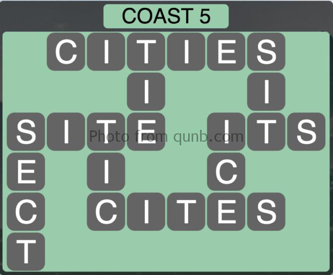 Wordscapes Coast 5 (Level 309) Answers