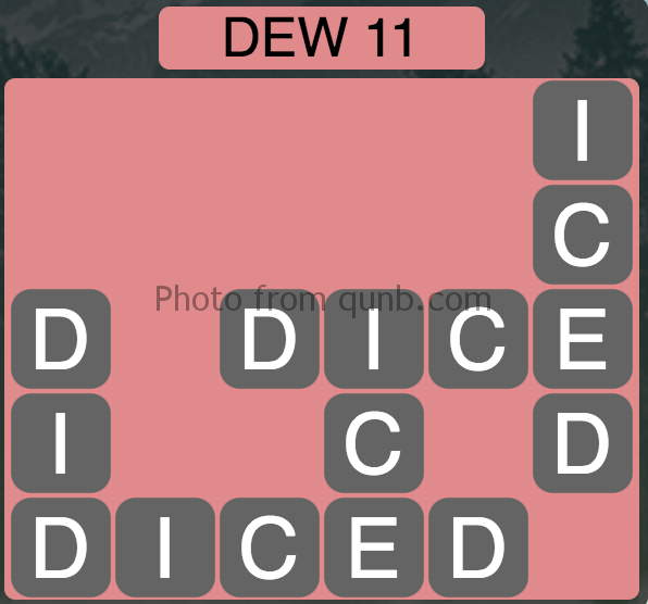 Wordscapes Level 31 (Dew 11) Answer