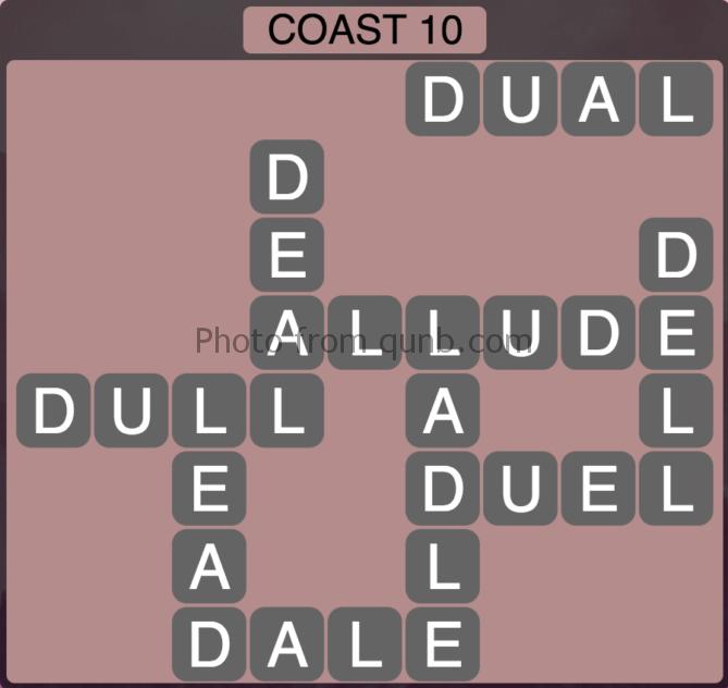 Wordscapes Coast 10 (Level 314) Answers