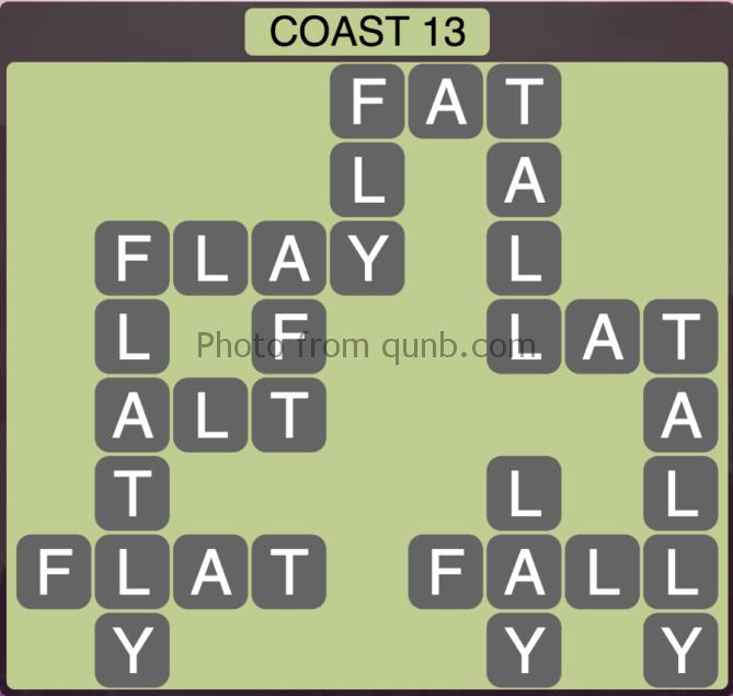 Wordscapes Coast 13 (Level 317) Answers