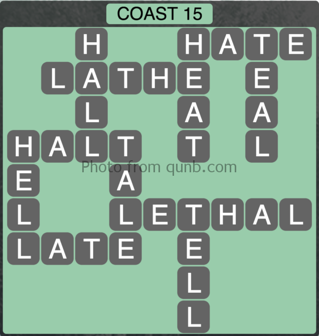 Wordscapes Coast 15 (Level 319) Answers