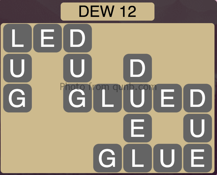 Wordscapes Level 32 (Dew 12) Answer