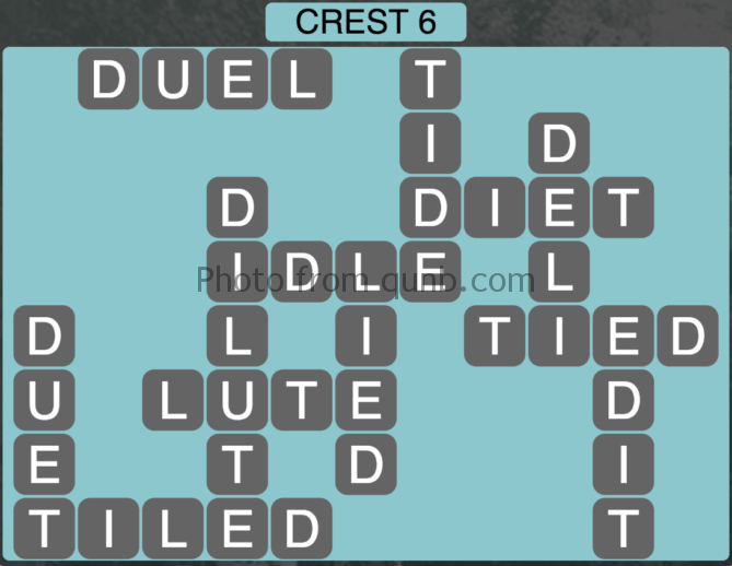 Wordscapes Crest 6 (Level 326) Answers