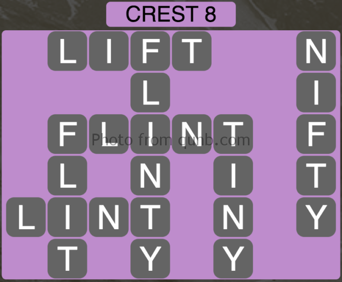 Wordscapes Crest 8 (Level 328) Answers