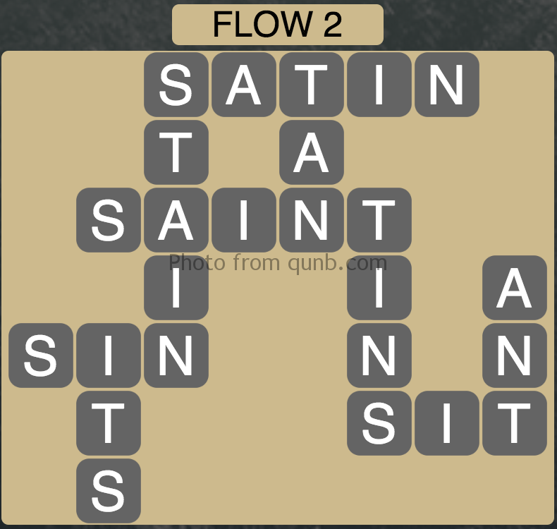 Wordscapes Level 34 (Flow 2) Answer