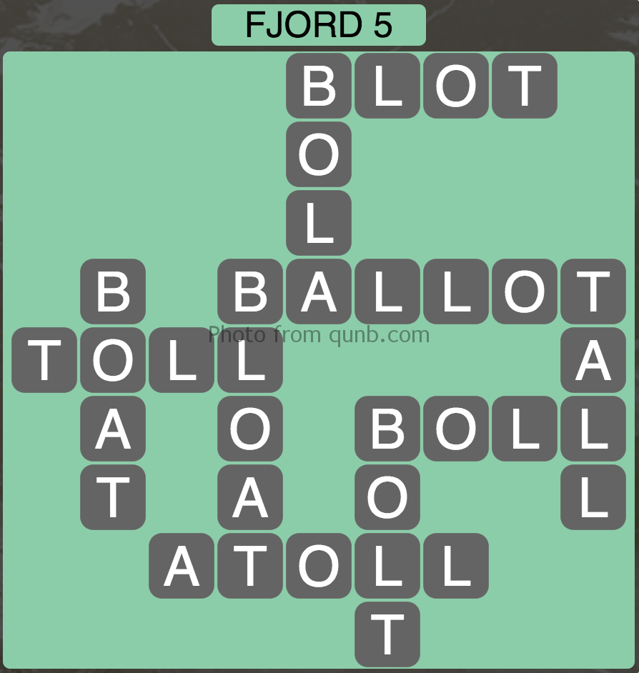 Wordscapes Fjord 5 (Level 341) Answers