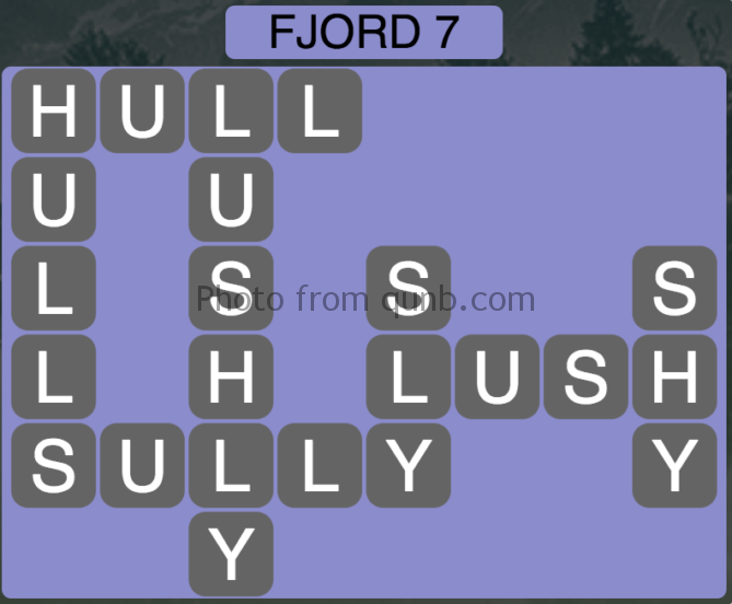 Wordscapes Fjord 7 (Level 343) Answers