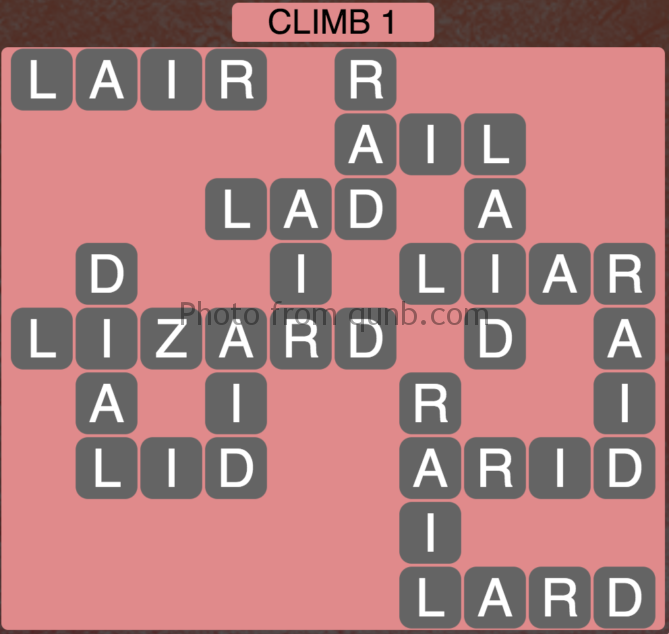 Wordscapes Climb 1 (Level 353) Answers