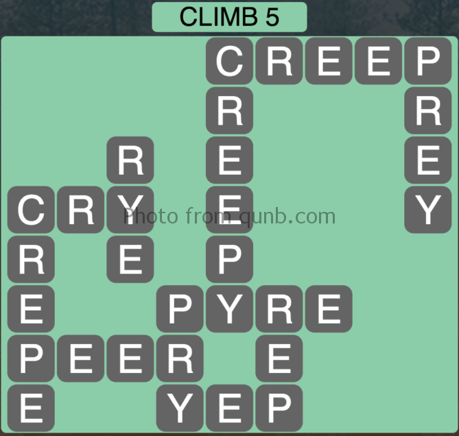 Wordscapes Climb 5 (Level 357) Answers
