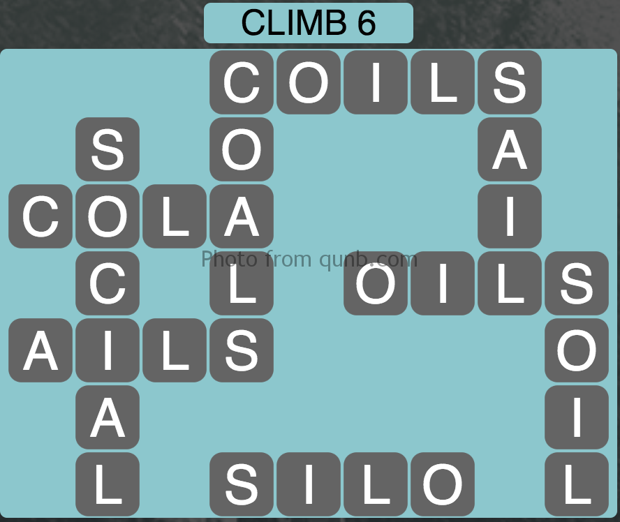Wordscapes Climb 6 (Level 358) Answers